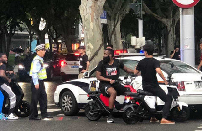 NBA's James Harden Gets into Trouble with Shanghai Traffic Police