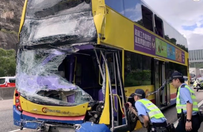 77 Injured After Two Buses Collide in Hong Kong