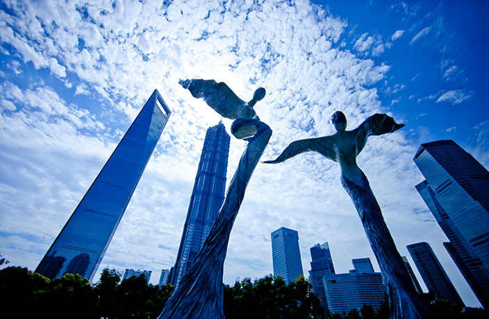 This Day in History: 'Terra Natura' Angels Sculpture in Lujiazui