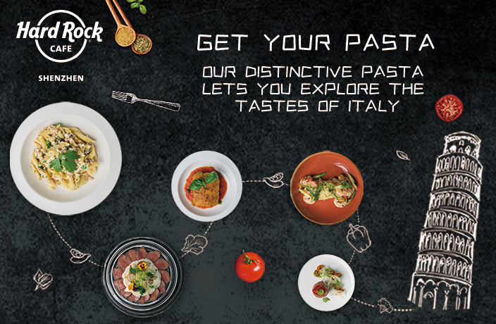 Find Your Pasta at Hard Rock Cafe Shenzhen