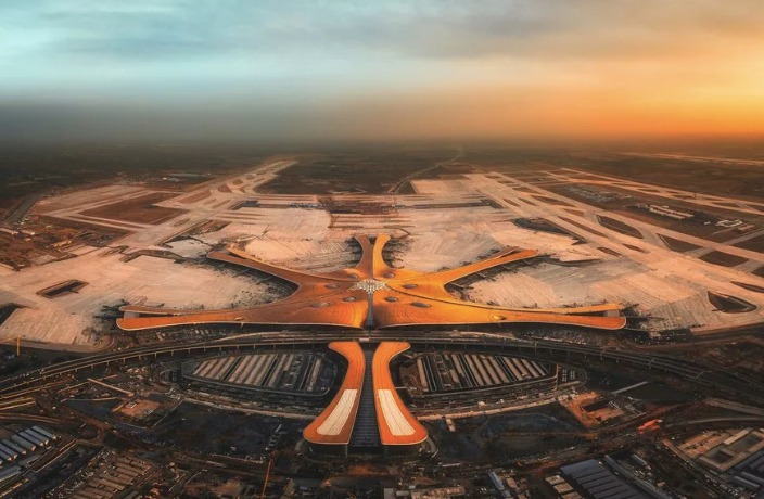 Beijing's Brand-New Starfish-Shaped Airport is Now Open