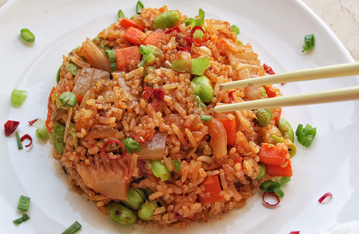 Veggie Mama's Easy Vegan Kimchi Fried Rice Recipe