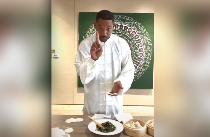 WATCH: Will Smith Shows Off Jiaozi-Wrapping Skills on Douyin