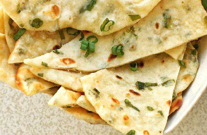 Veggie Mama's Stovetop Scallion Flatbread Recipe