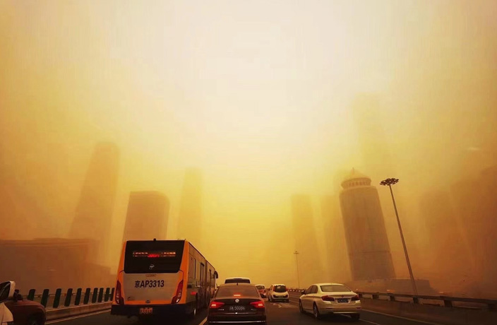 Beijing Crippled by Worst Sandstorm in 10 Years