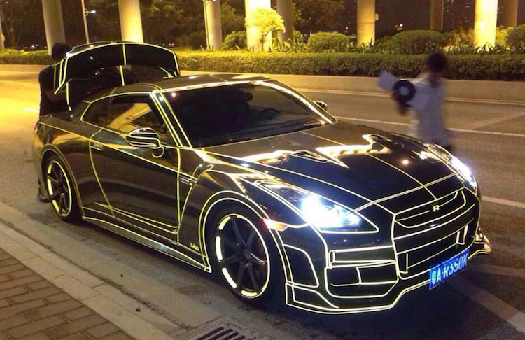 This Tron Style Nissan Gt R In Shenzhen Is Actually Pretty Cool