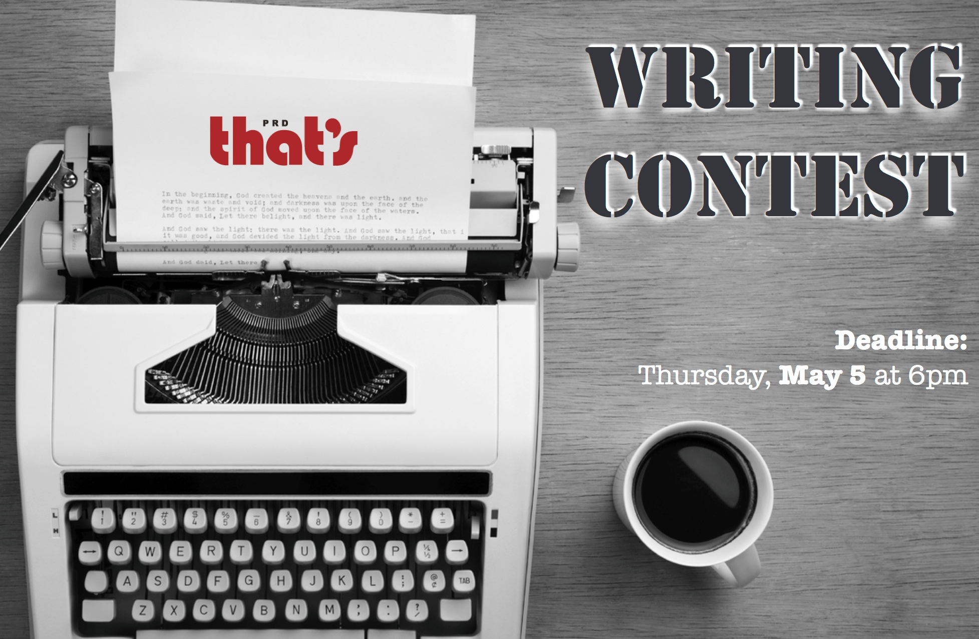 CONTEST: That's PRD Writing Contest Spring 2016