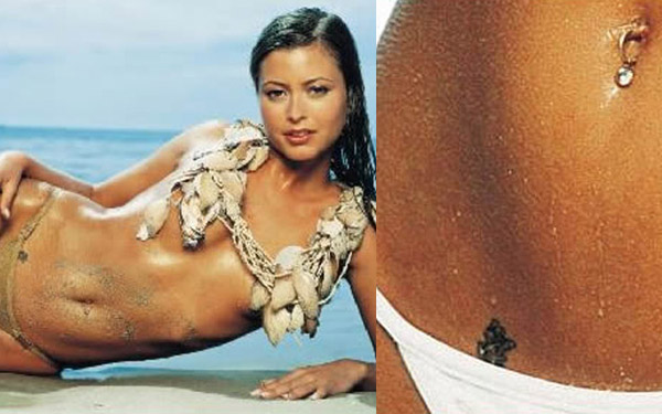 Holly Valance Chinese tattoo
