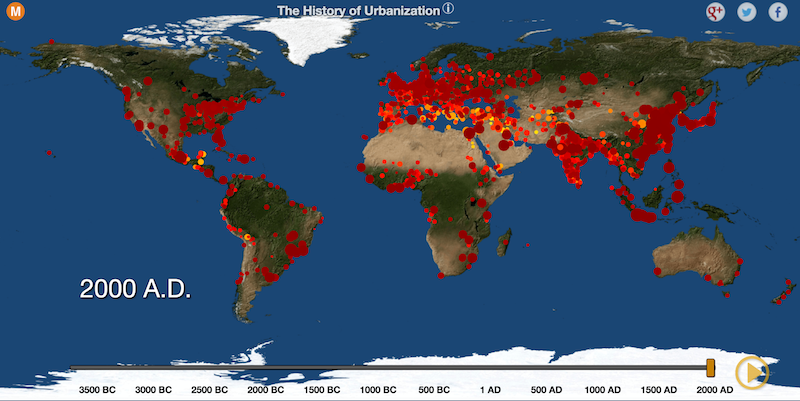 Watch 5,700 Years of World History With This Cool Map ...