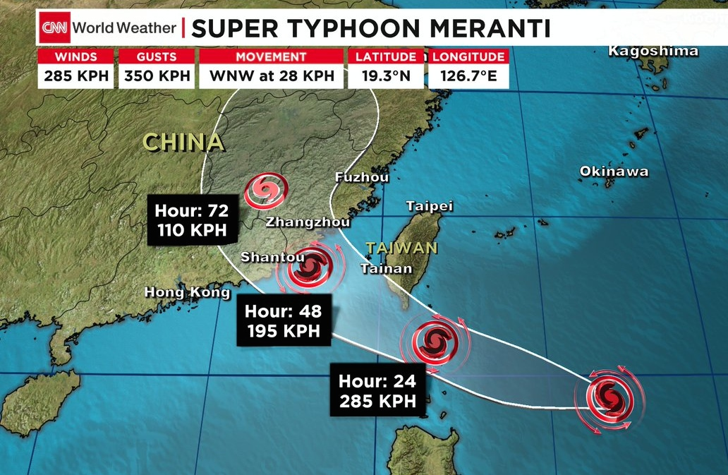 Consulates Ask Citizens to Brace for Super Typhoon Meranti