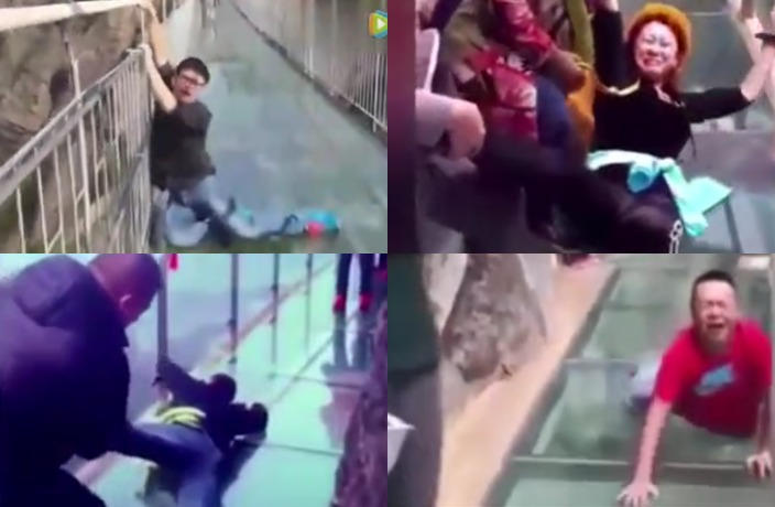 WATCH: Video Compilation of People Freaking Out on Chinese Glass Bridges