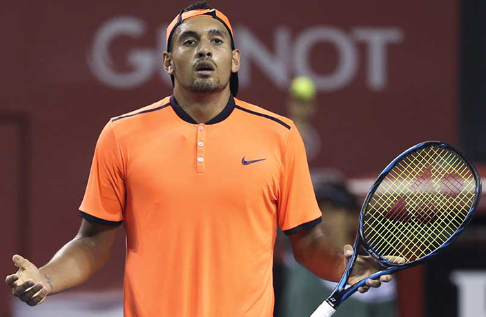Nick Kyrgios Acts Like Total Baby at Shanghai Masters, Fined $17,000
