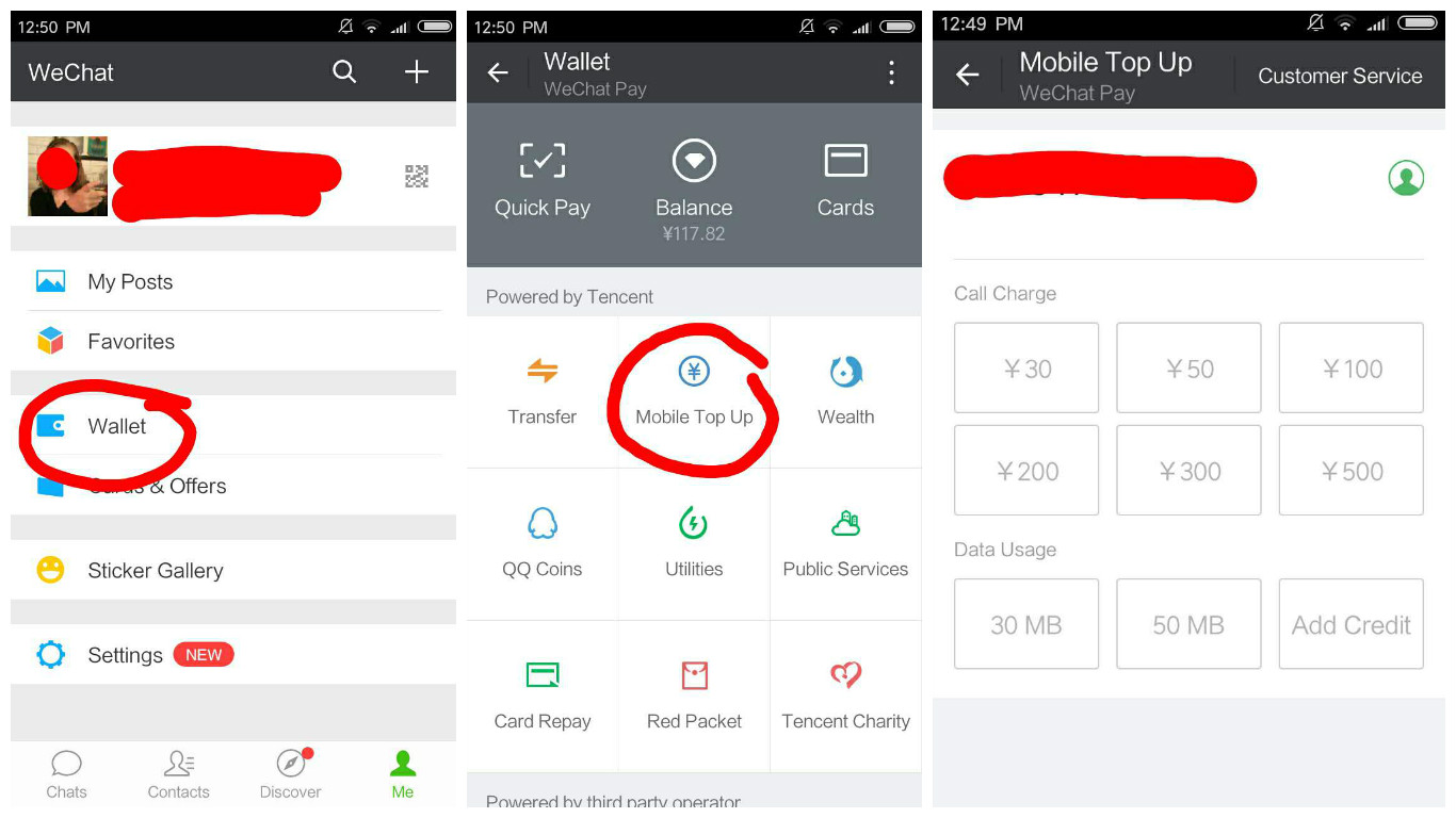Wechat Mobile Top Up