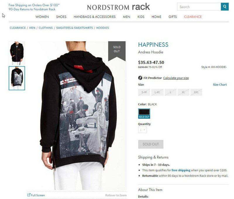 9ff2974689 Outrage Over Nordstrom Hoodie Showing Nanjing Massacre – Thatsmags.com
