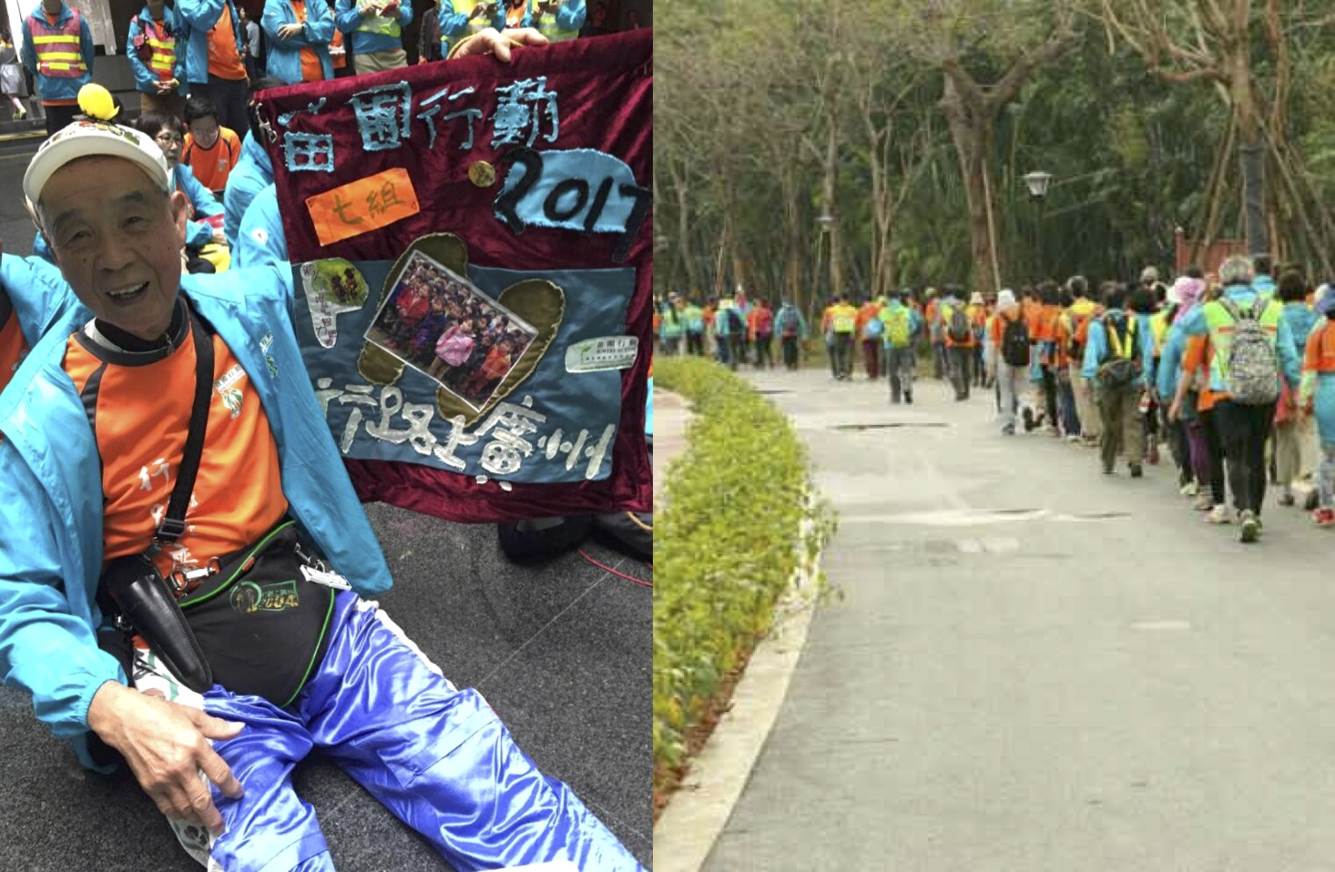 84-Year-Old Hong Kong Man Walks 100km to Guangzhou For Charity