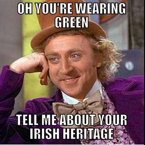St. Patrick's Day wearing green meme