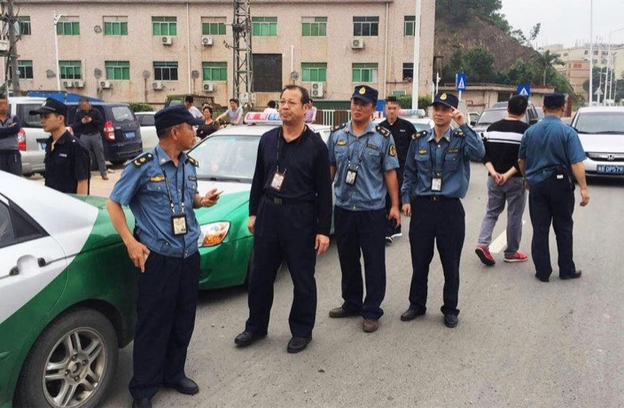 Fake taxi cop
