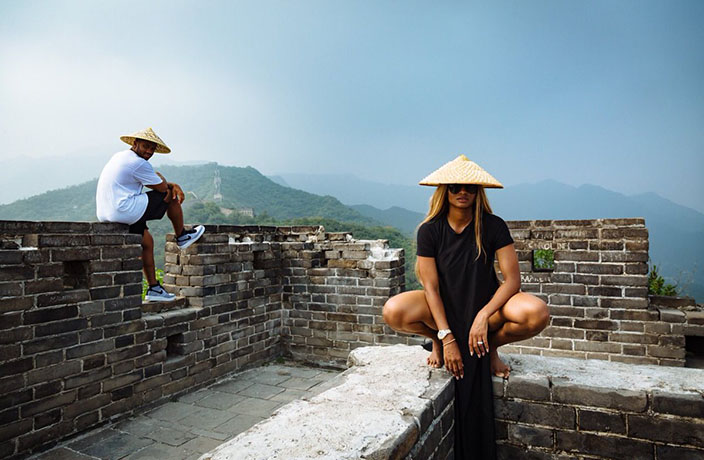 Russell Wilson and Ciara in China