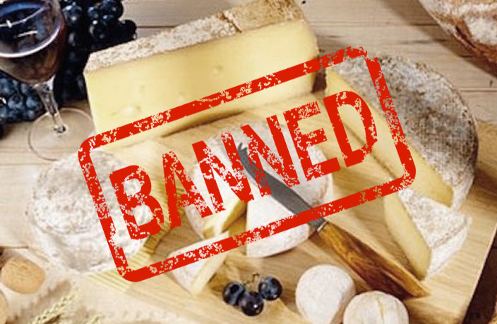 Cheese Banned then unbanned in China