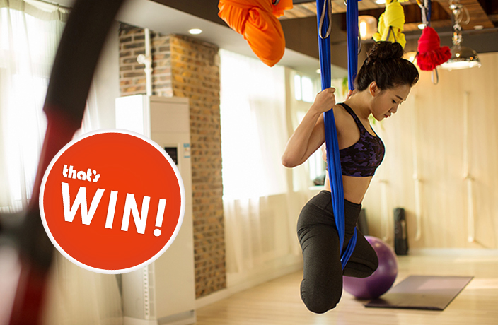 Win a Free Aerial Yoga Class
