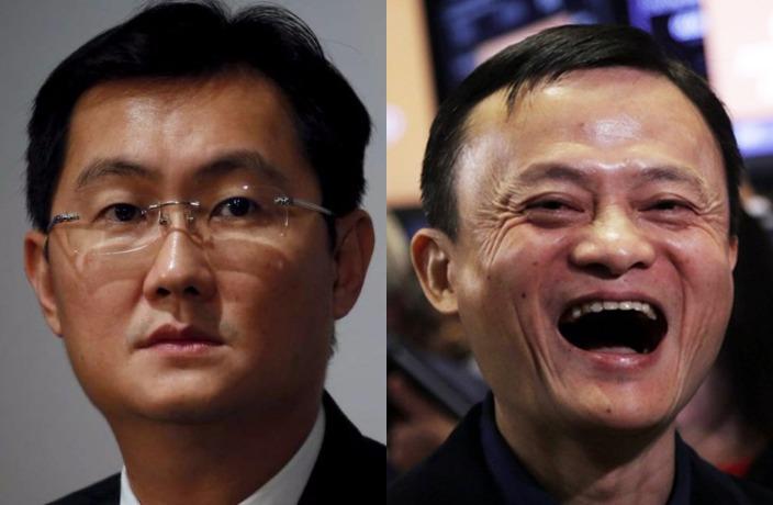 Pony Ma and Jack Ma