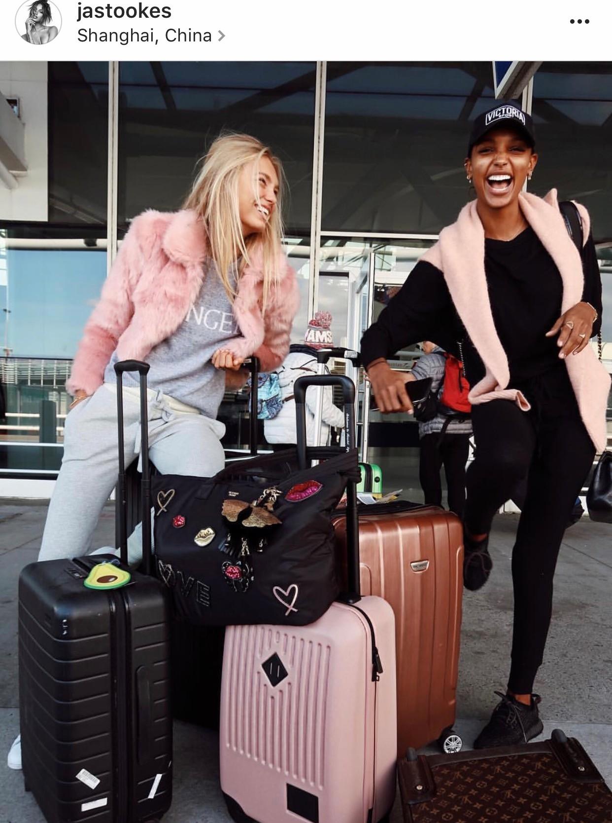 Jasmine Tookes at Pudong International Airport