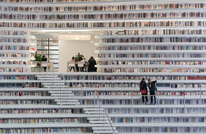 Tianjin's Otherworldly New Library Houses Over 1 Million Books
