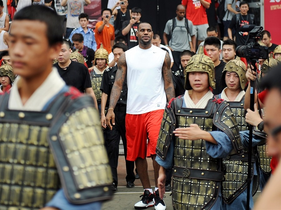 LeBron James in China in 2011