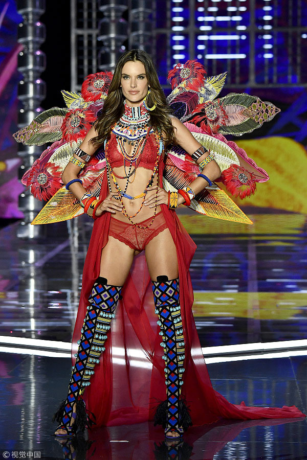 Alessandra Ambrosio at the Victoria's Secret Fashion Show in Shanghai