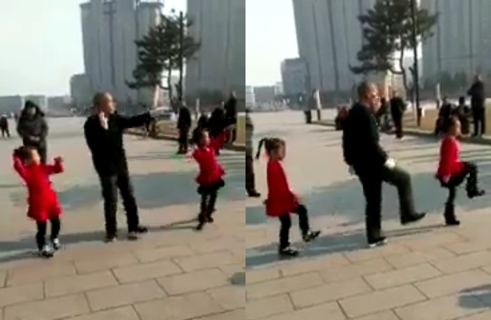 WATCH: Grandpa and Kids Show Off Amazing Dance Moves in China