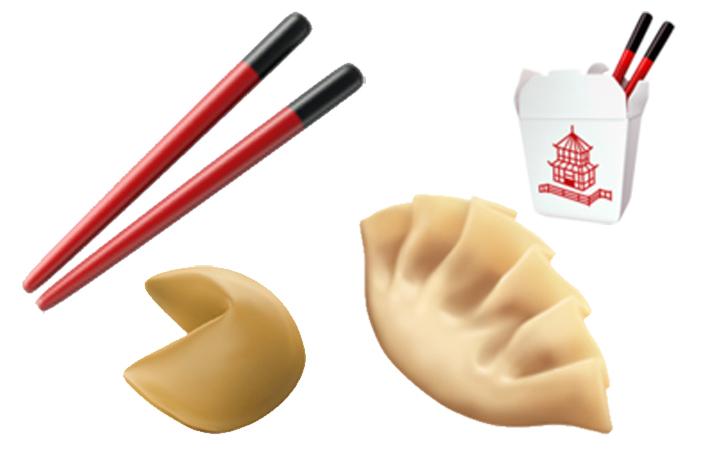 Dumpling and Chopsticks Emojis