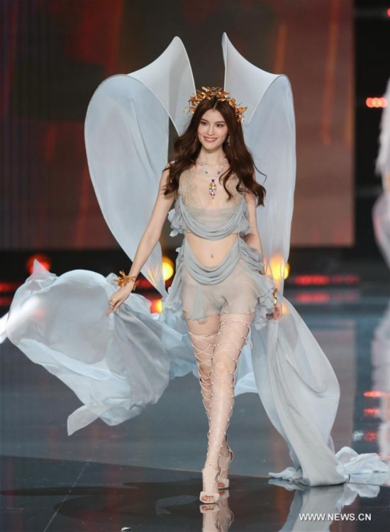 He Sui at the Victoria's Secret Fashion Show