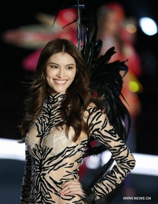 He Sui at the Victoria's Secret Fashion Show in Shanghai