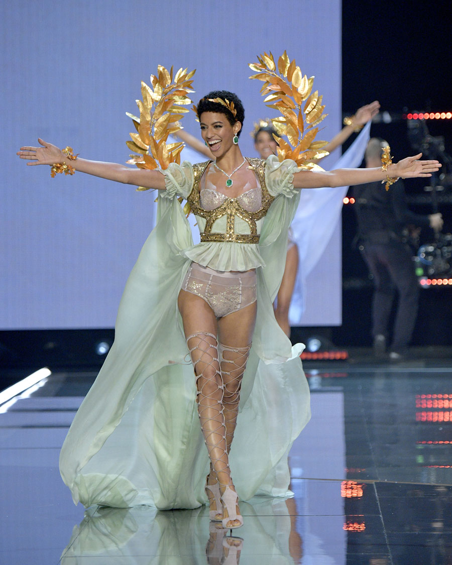 Jourdana Philips at the Victoria's Secret Fashion Show in Shanghai
