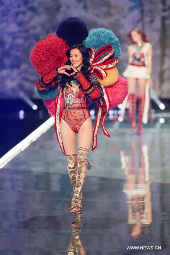 Liu Wen at the Victoria's Secret Fashion Show in Shanghai