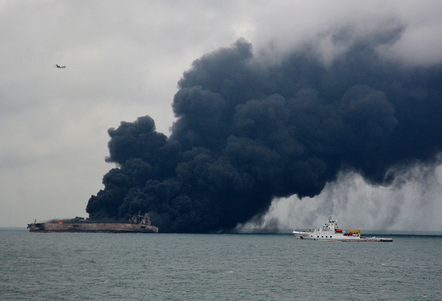 Oil Spill Fears as Ships Collide by China Coast, 31 Still Missing