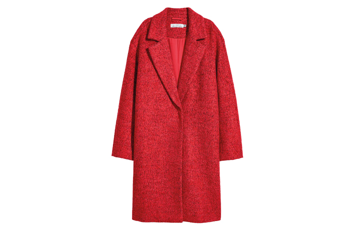 H&M Women's Fashion Red Coat