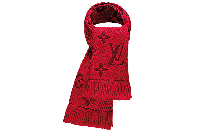 Louis Vuitton red scarf for women