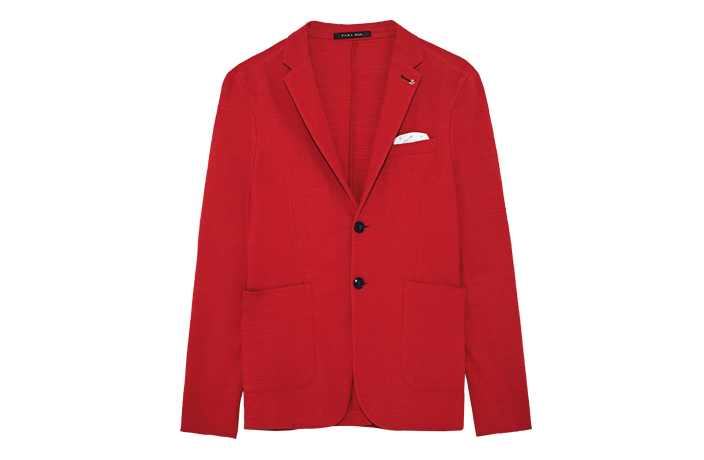 Zara red men's blazer
