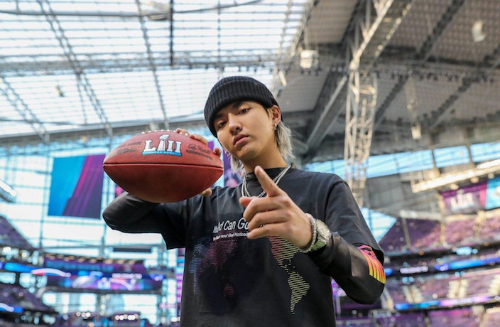 WATCH: Kris Wu Performs at 2018 Super Bowl Live