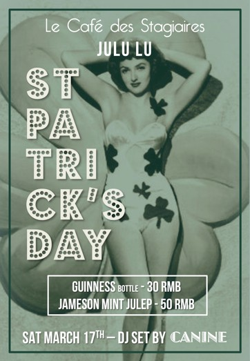 St. Patrick's Day at Le Cafe des Stagiaires
