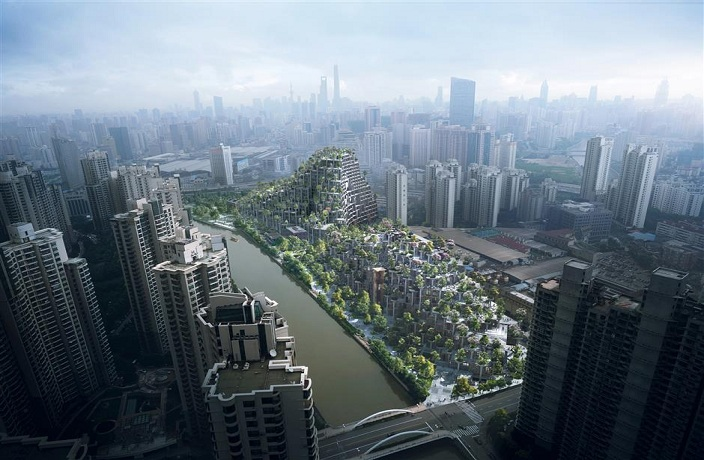 PHOTOS: Shanghai's Amazing 'Hanging Gardens' Nearly Complete