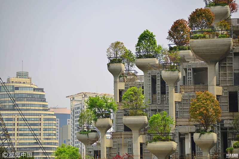 Photos Shanghai S Amazing Hanging Gardens Nearly Complete