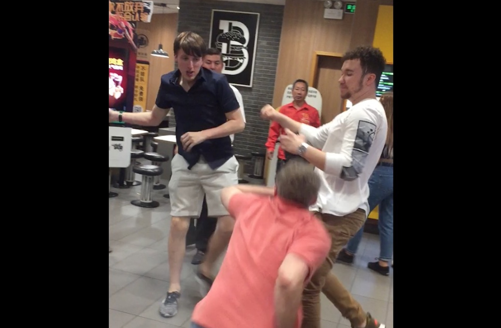 Drunken Fight Among Expats at a Shenzhen McDonald's Goes Viral
