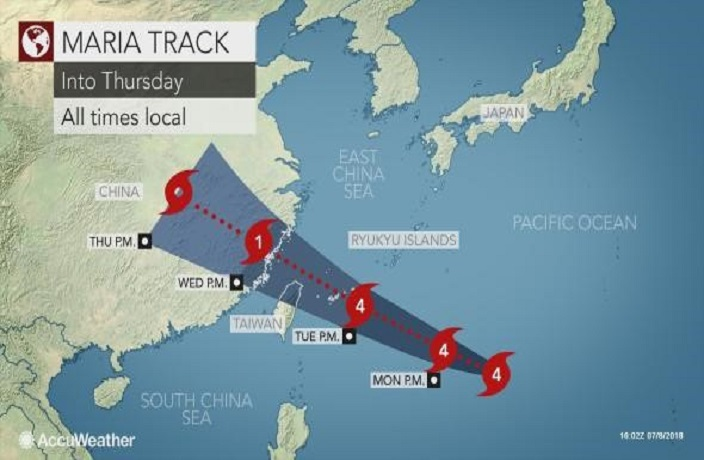 Super Typhoon Maria Likely Hitting South China, Missing Shanghai This Week