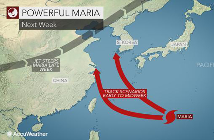 Super Typhoon Maria Threatens to Hit Shanghai Next Week