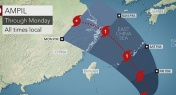 Tropical Storm Ampil Threatens to Hit Shanghai This Weekend