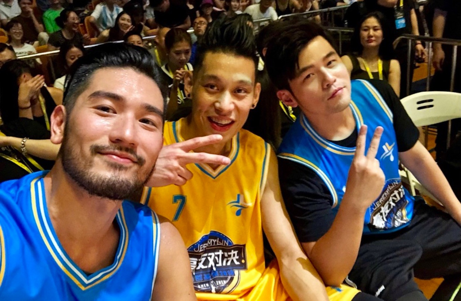Jeremy Lin, Jay Chou Play Basketball in Star-Studded Shenzhen Game