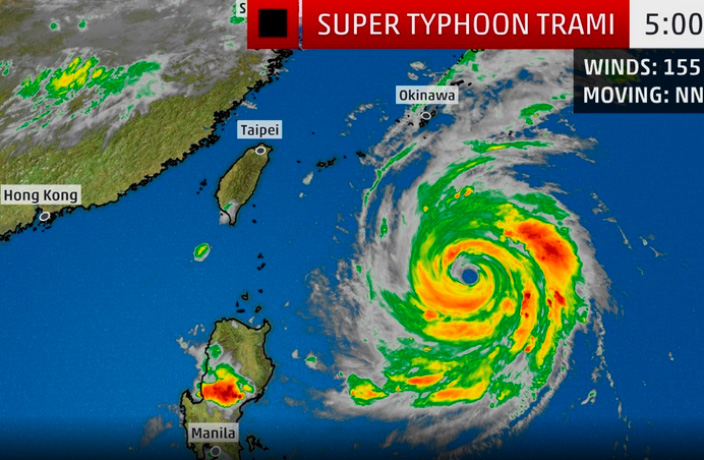 New Super Typhoon Headed Towards East China Sea