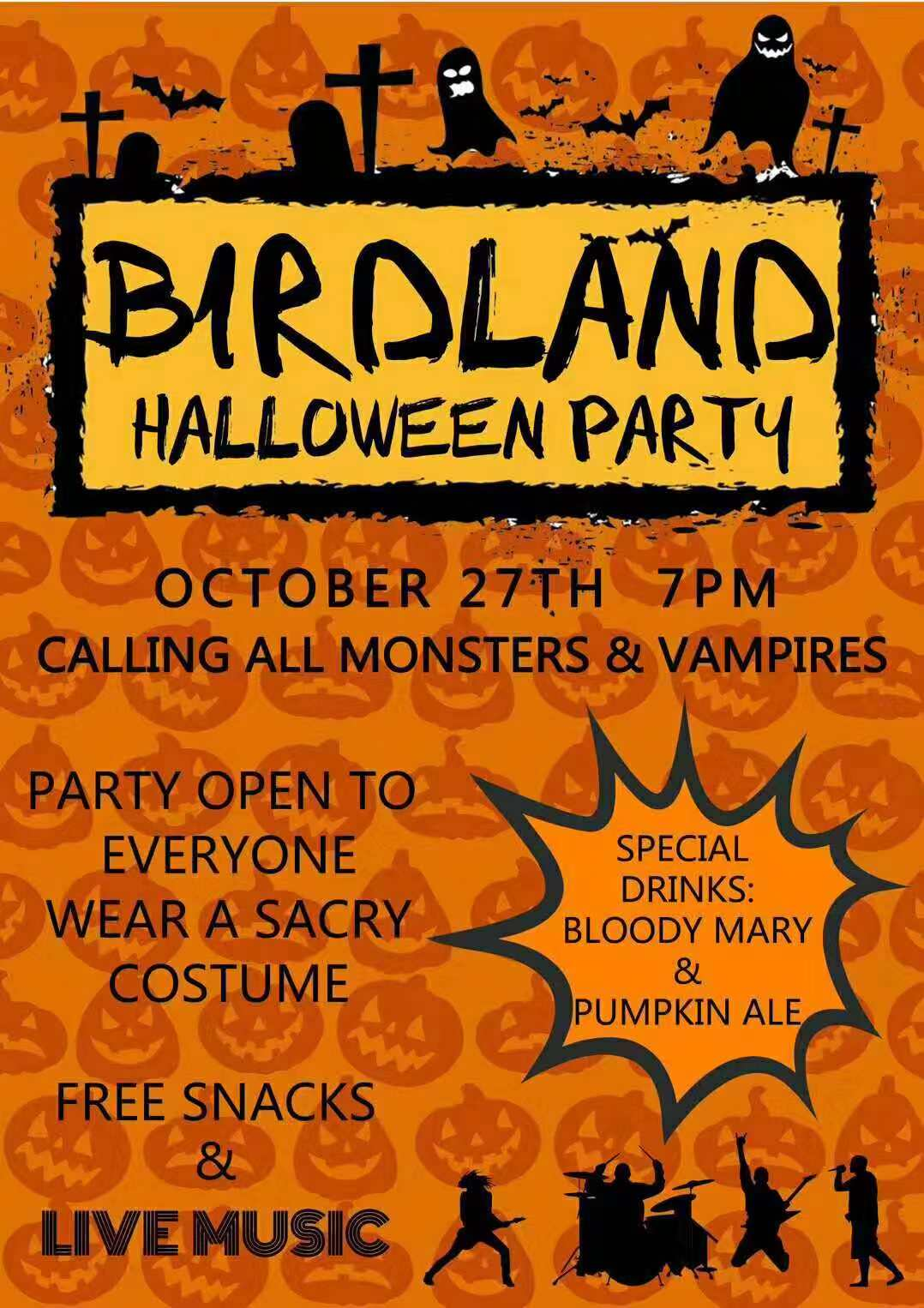 Birdland Halloween Party